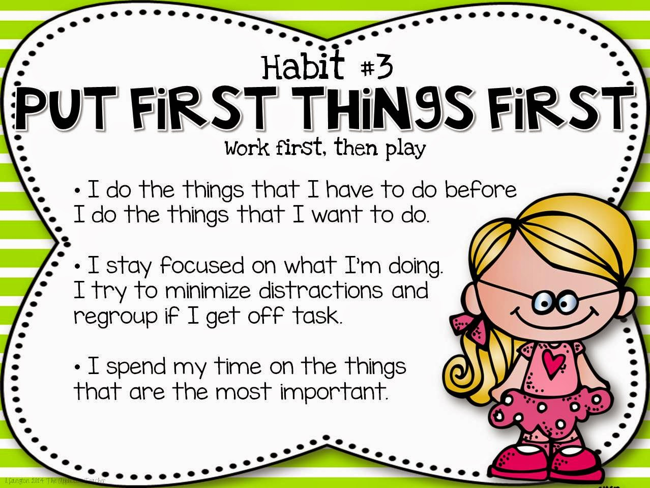 Image result for put first things first
