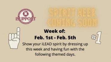 iLEAD Lancaster Spirit Week Feb 1-5, 2021