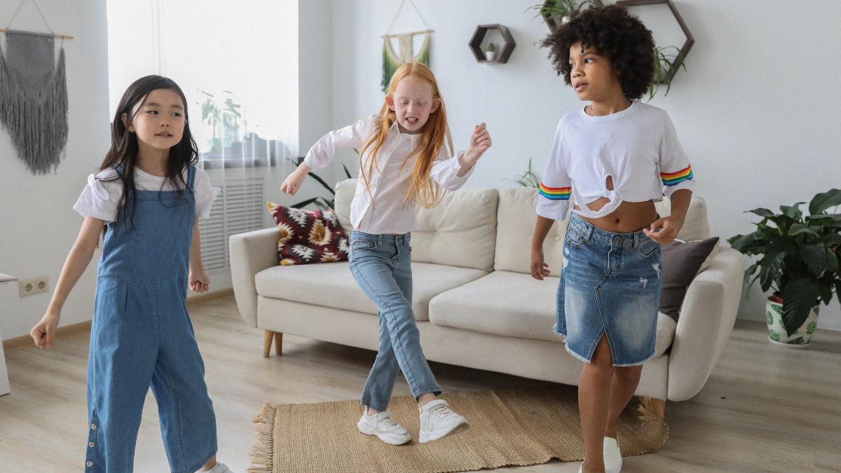 children dancing together