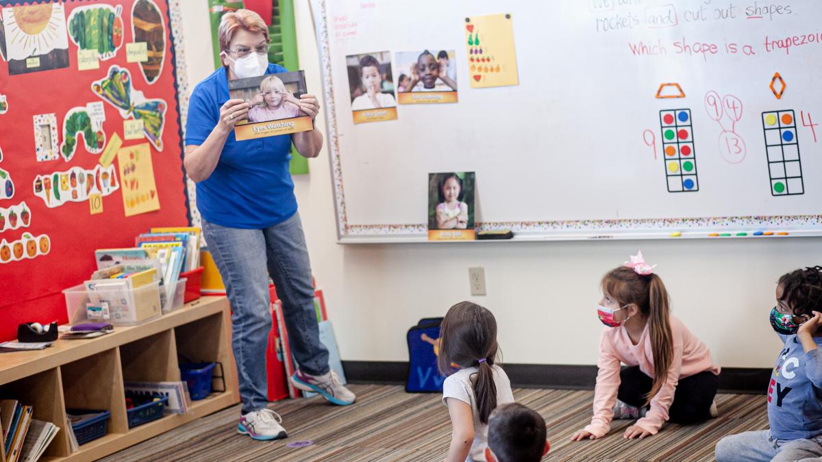 iLEAD Lancaster kindergarten class