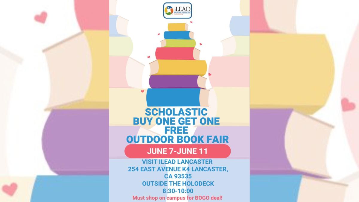 iLEAD Lancaster book fair flyer