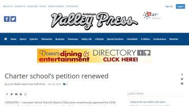 Charter School's Petition Renewed